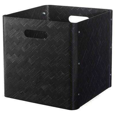 BULLIG låda svart 32 cm 35 cm 33 cm