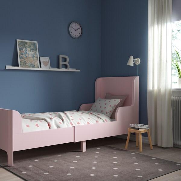 BUSUNGE Växasäng, ljusrosa, 80x200 cm