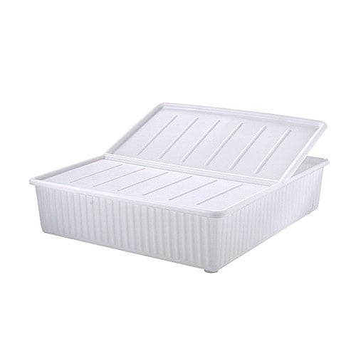 DILLING Sänglåda IKEA Använd en eller två sänglådor under sängen för extra förvaringsutrymme. Locket hindrar damm att tränga in i lådan.
