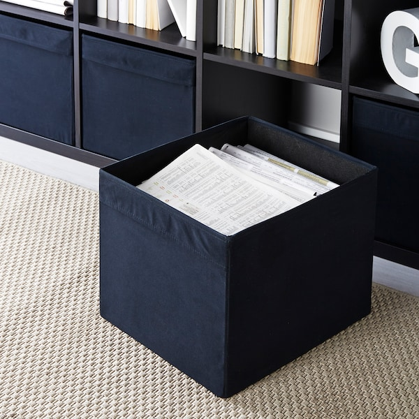 DRÖNA Låda, svart, 33x38x33 cm