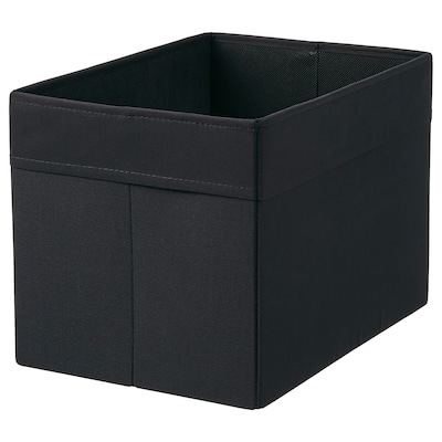 DRÖNA Låda, svart, 25x35x25 cm