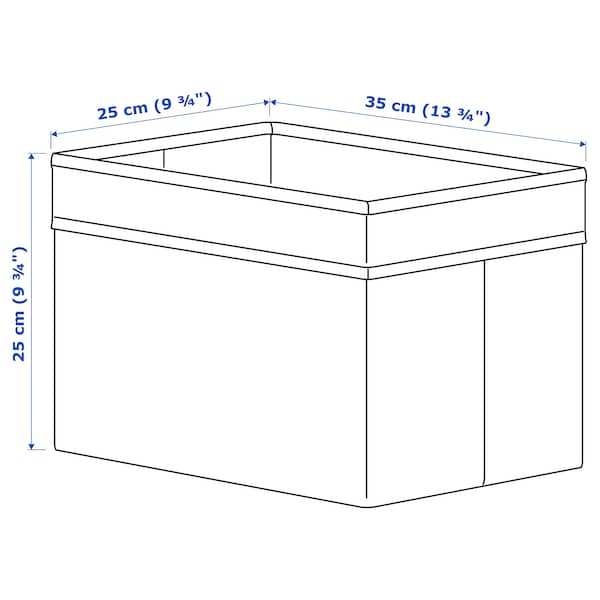 DRÖNA Låda, vit, 25x35x25 cm