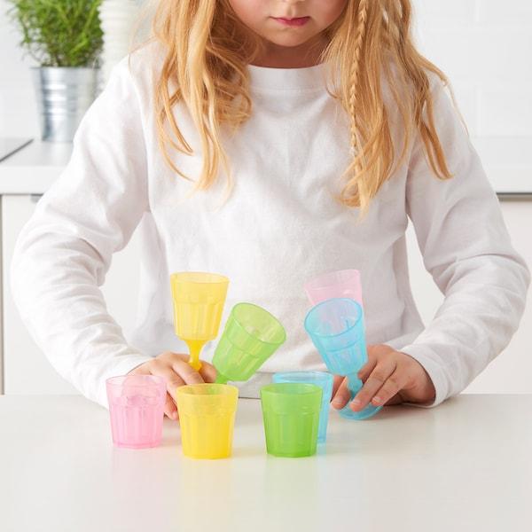 DUKTIG Glas, flerfärgad