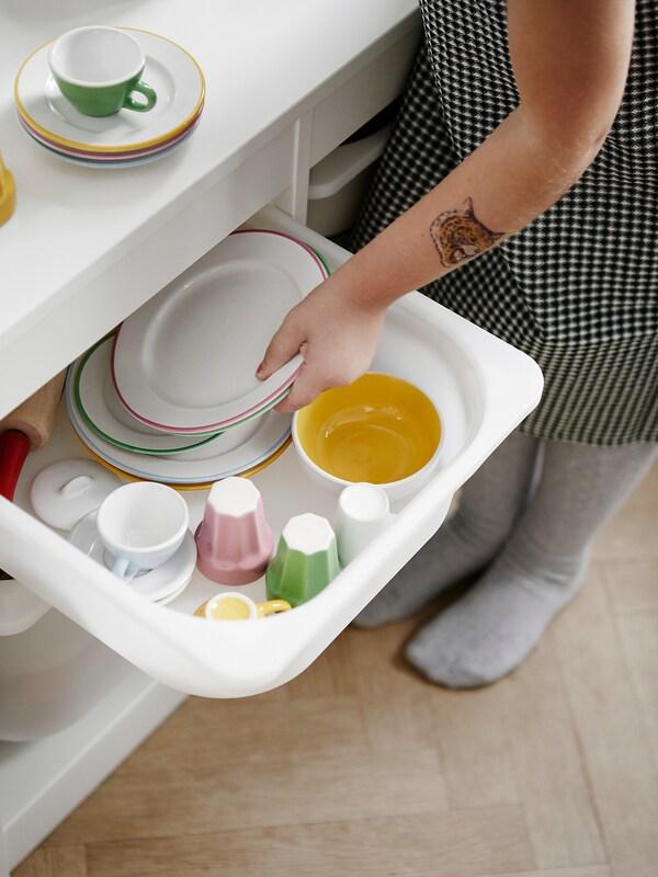 DUKTIG Tallrik/skål