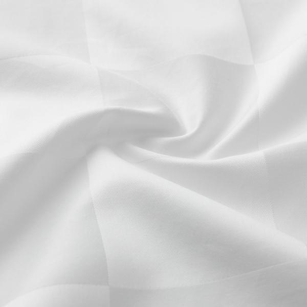 DVÄRGSYRA Påslakan 2 örngott, vit, 240x220/50x60 cm