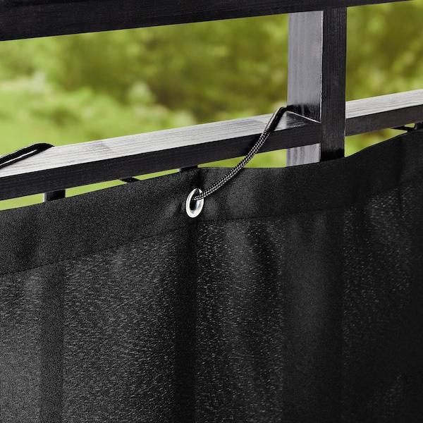 DYNING Insynsskydd för balkong, svart, 250x80 cm