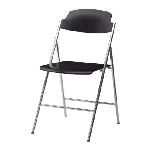 klappstol stolar stol ar , brunsvart edgar
