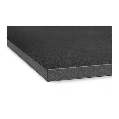 EKBACKEN Bänkskiva svart stenmönstrad, 186×2 8 cm IKEA
