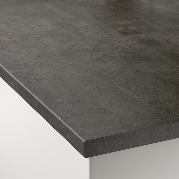 EKBACKEN Måttbeställd bänkskiva, betongmönstrad/laminat, 45.1-63.5x2.8 cm