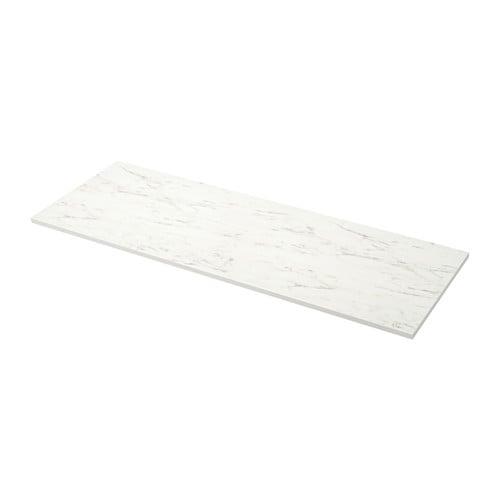 ekbacken m ttbest lld b nkskiva vit marmorm nstrad laminat 45 1 cm ikea. Black Bedroom Furniture Sets. Home Design Ideas
