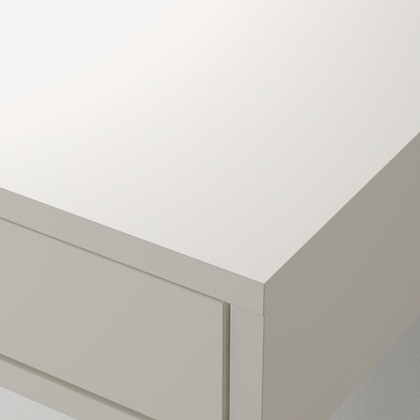 EKBY ALEX Hylla med lådor, vit, 119x29 cm