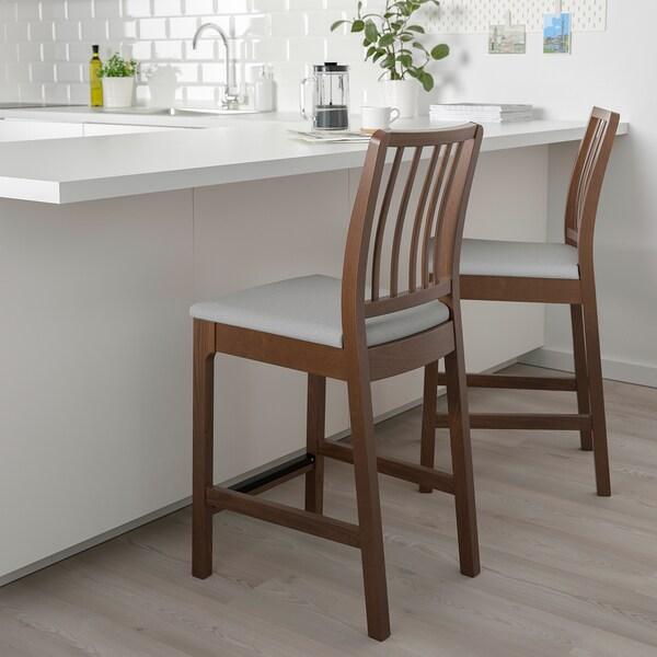 EKEDALEN Barstol, brun/Orrsta ljusgrå, 62 cm