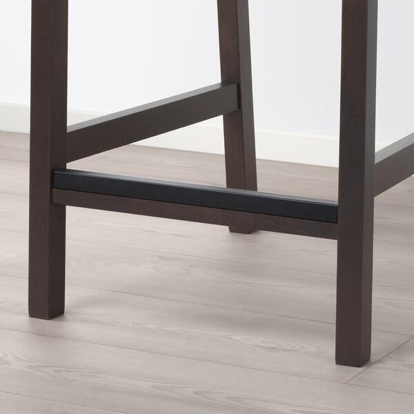 EKEDALEN Barstol, mörkbrun, Orrsta ljusgrå, Bredd: 43 cm IKEA