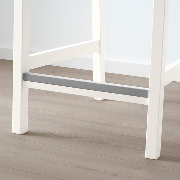 EKEDALEN Barstol, vit, Orrsta ljusgrå, 43x51x101 cm IKEA