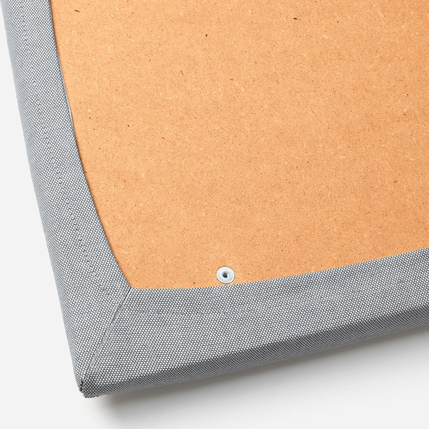 EKEDALEN Barstol vitOrrsta ljusgrå 62 cm