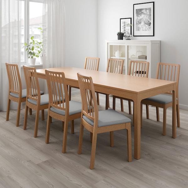 EKEDALEN Utdragbart bord, ek, Min. längd: 180 cm IKEA
