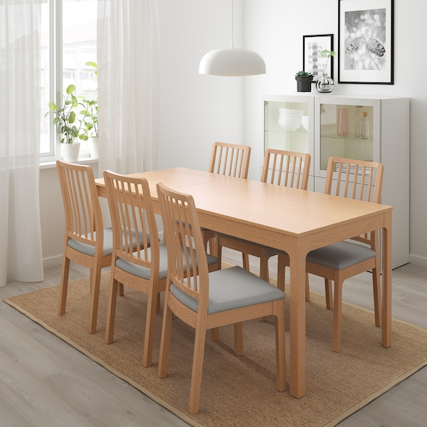 EKEDALEN Utdragbart bord, ek, Min. längd: 120 cm IKEA