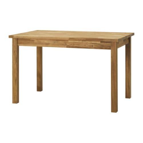 EKENSBERG Matbord IKEA Massiv ek; ett slitstarkt naturmaterial som kan slipas och ytbehandlas vid behov. Plats för 4 personer.