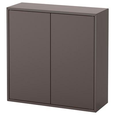 EKET Skåp med 2 dörrar och 2 hyllor, mörkgrå, 70x25x70 cm