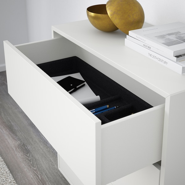 EKET Skåp med 3 lådor, vit, 70x35x70 cm