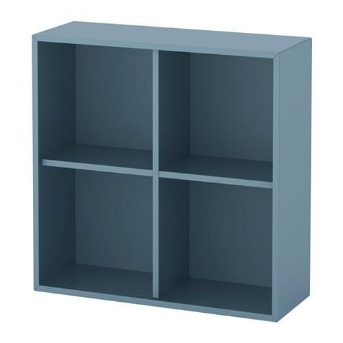 Eket sk p med 4 fack ljusbl ikea for Ikea meuble 4 carre