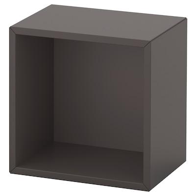 EKET Väggmonterad hyllsektion, mörkgrå, 35x25x35 cm