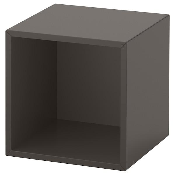 EKET Väggmonterad hyllsektion, mörkgrå, 35x35x35 cm