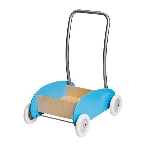 EKORRE Lära-gå-vagn IKEA Att gå själv tränar bl. a.  motoriken och balansen.