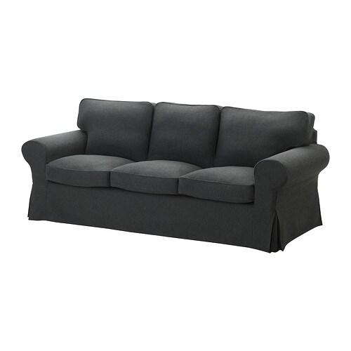 EKTORP 3-sits soffa IKEA Lätt att hålla ren, avtagbar klädsel som kan kemtvättas.