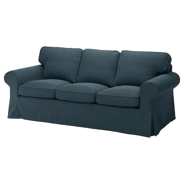 EKTORP 3-sitssoffa, Hillared mörkblå
