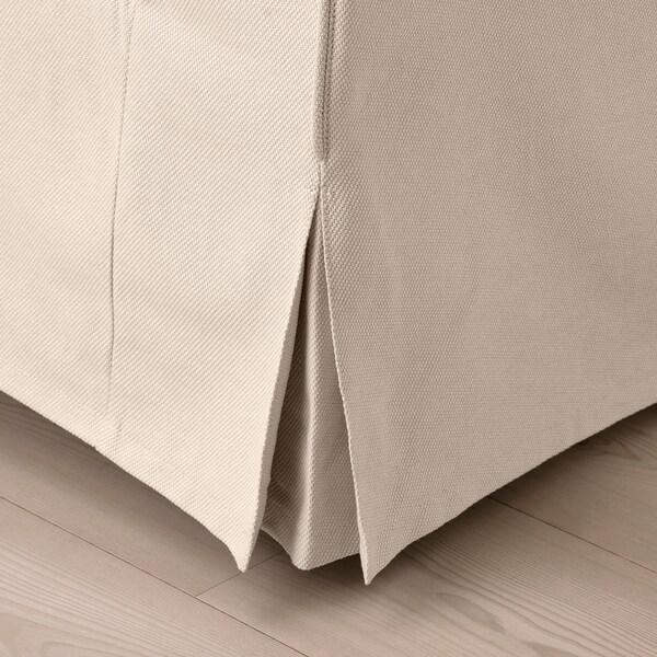 EKTORP Hörnsoffa, 4-sits, Hallarp beige