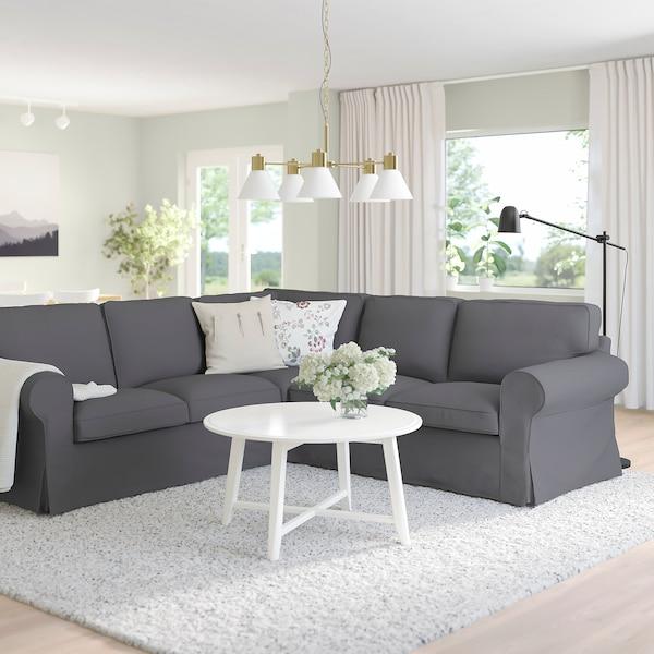 EKTORP Hörnsoffa, 4-sits, Hallarp grå