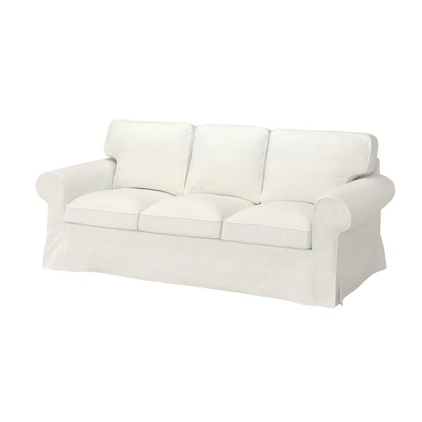 EKTORP Klädsel till 3-sitssoffa, Blekinge vit