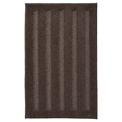 EMTEN Badrumsmatta, mörkbrun, 50x80 cm