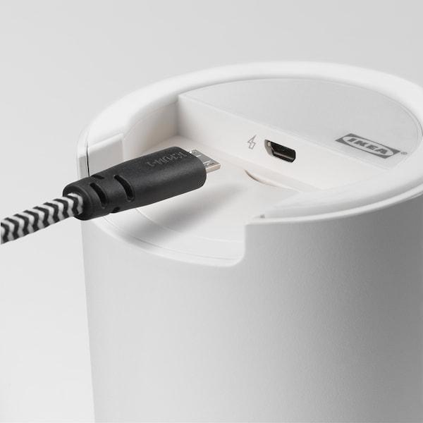 ENEBY inbyggd bluetooth-högtalare vit 88 mm 86 mm