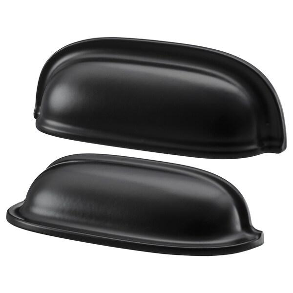 ENERYDA Skålhandtag, svart, 89 mm