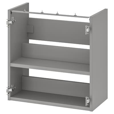 ENHET Bänkskåp f kommod m hyllplan, grå, 60x30x60 cm