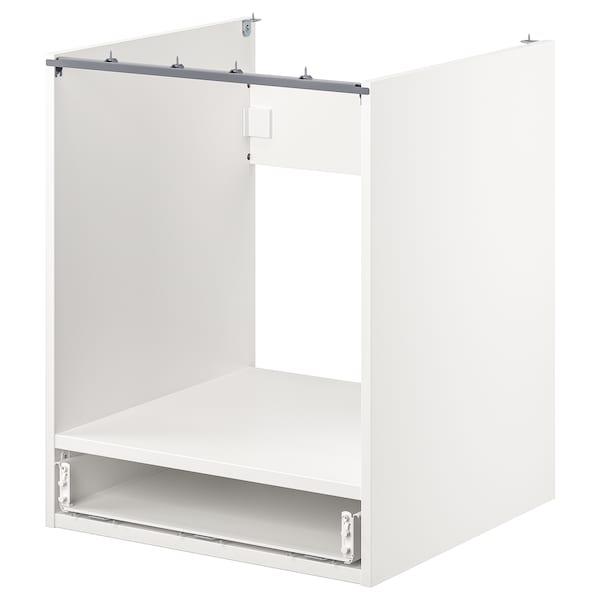 ENHET Bänkskåp f ugn m låda, vit, 60x60x75 cm