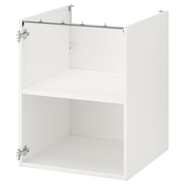 ENHET Bänkskåp m hyllplan, vit, 60x60x75 cm