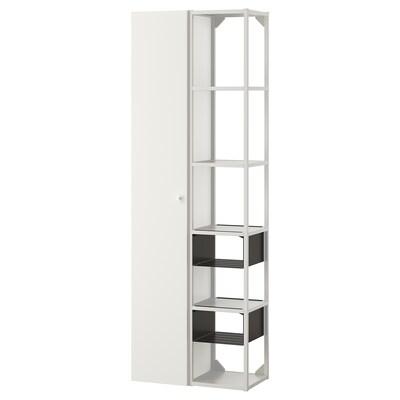 ENHET Förvaringskombination för vägg, vit, 60x32x180 cm