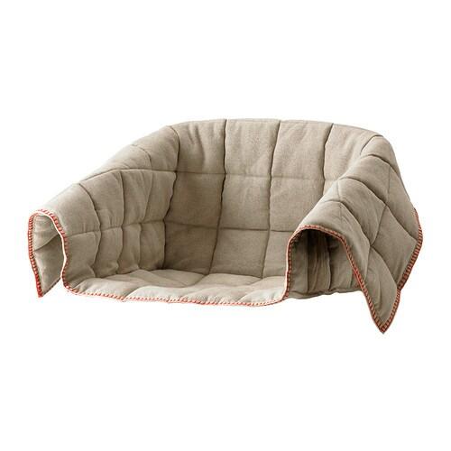ESBJÖRN Klädsel för stol , natur Tjocklek: 1 cm