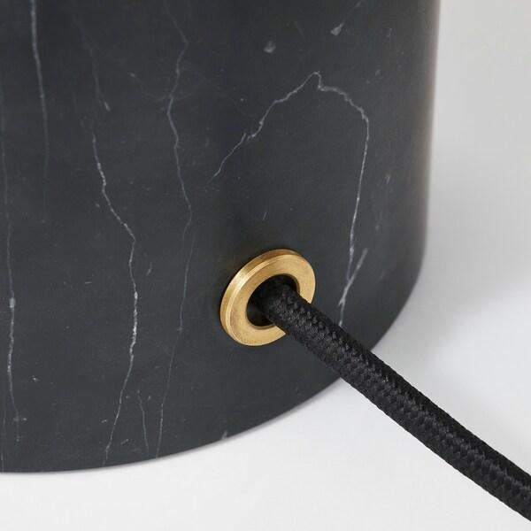 EVEDAL Bordslampa, marmor grå, grå klot IKEA