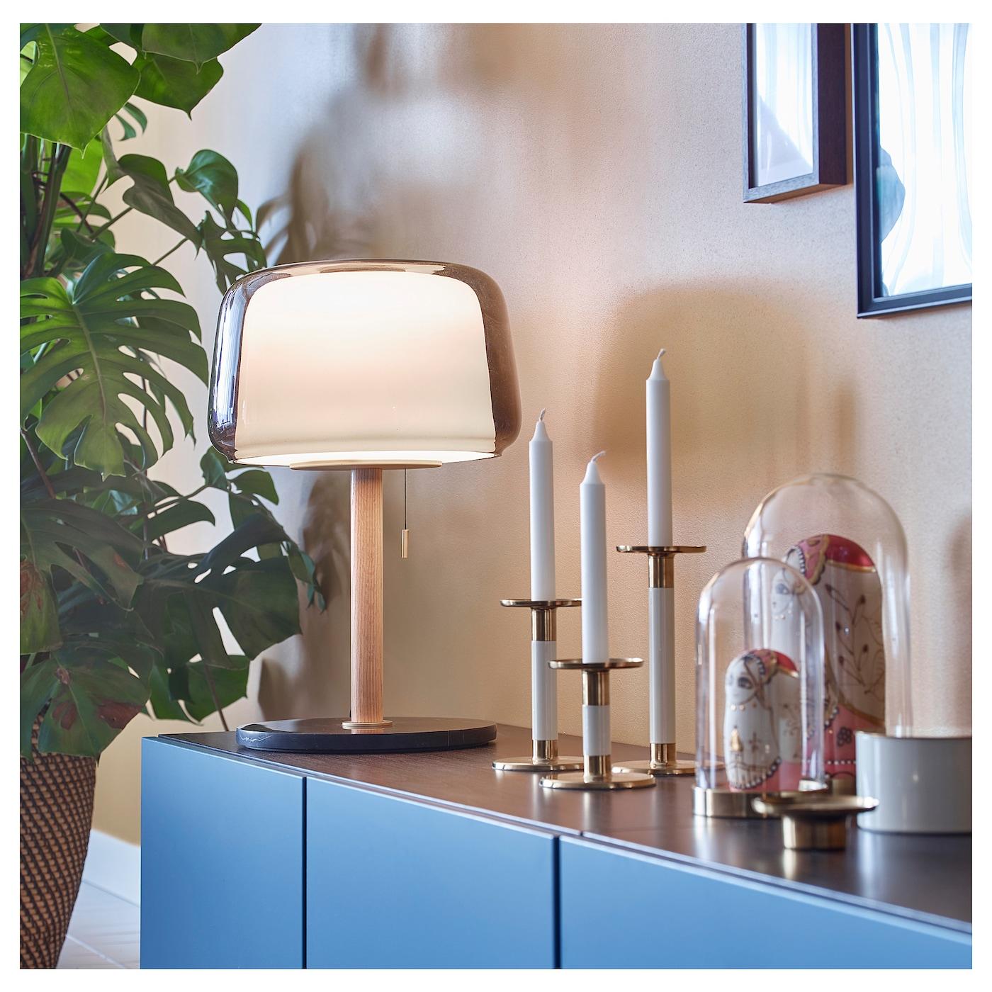 EVEDAL Bordslampa marmorgrå