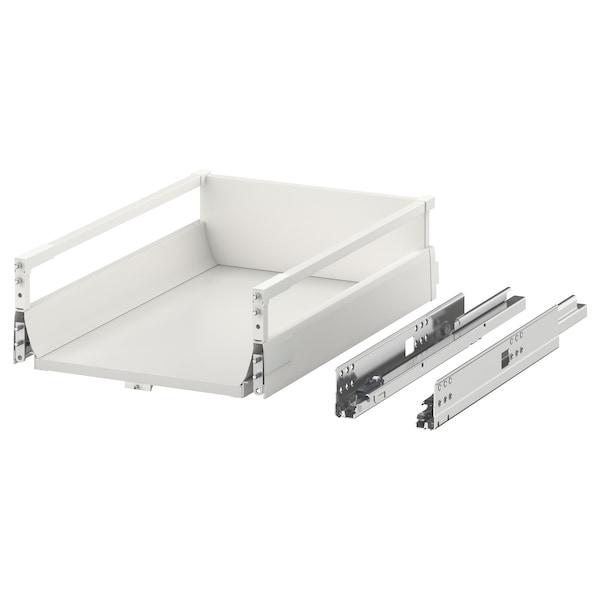 EXCEPTIONELL Låda, medium med tryck-öppna, vit, 40x60 cm