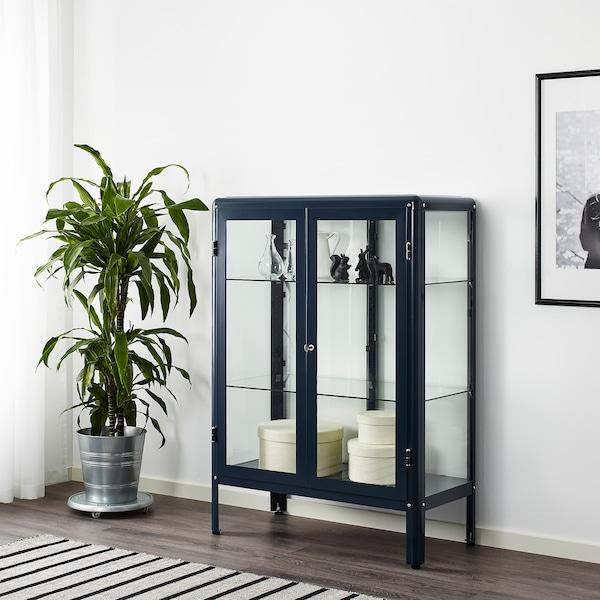 FABRIKÖR Vitrinskåp, svartblå, 81x113 cm