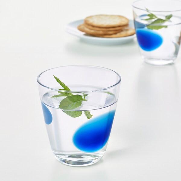 FABULÖS glas blå 9 cm 30 cl