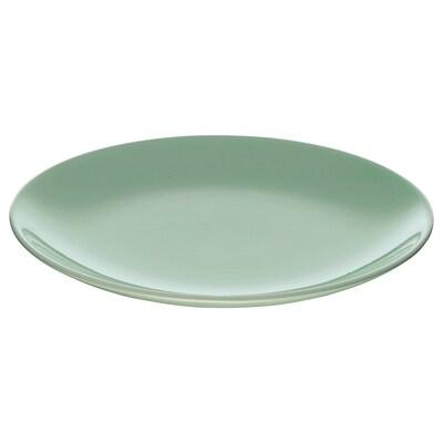 FÄRGRIK Assiett, ljusgrön, 21 cm