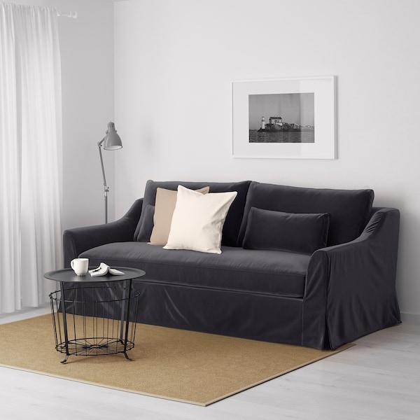 FÄRLÖV 3-sits soffa, Djuparp mörkgrå