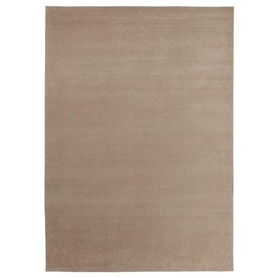 FALKERSLEV Matta, kort lugg, beige, 170x240 cm