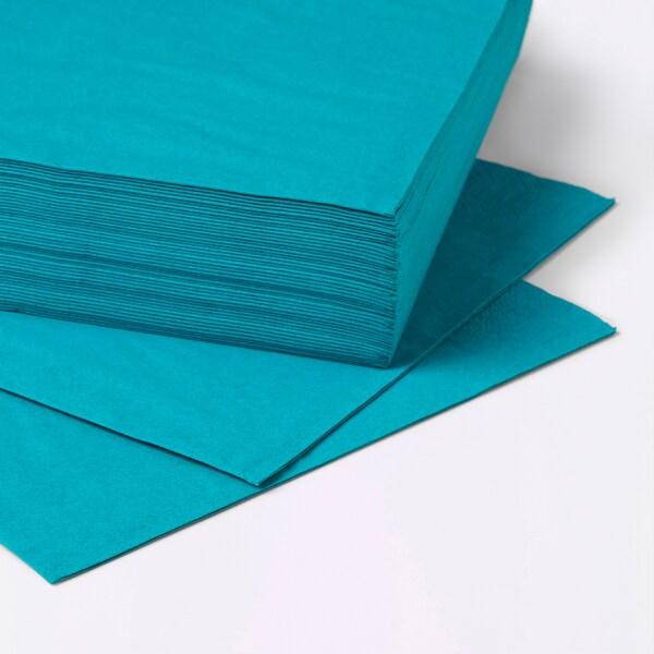 FANTASTISK pappersservett turkos 40 cm 40 cm 50 styck